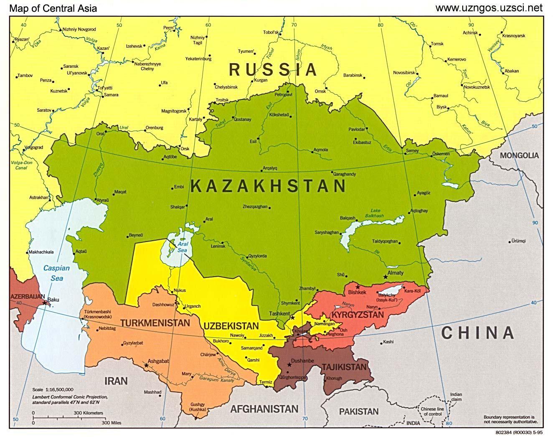 Kazakstan Kartta Aasian Kartta Kazakstanin Kartta Aasia Keski