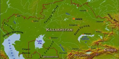 Kazakstan Kartta Kartat Kazakstan Keski Aasia Aasia